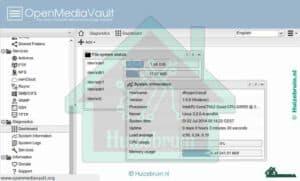 Open media vault installeren op een raspberry pi of pc