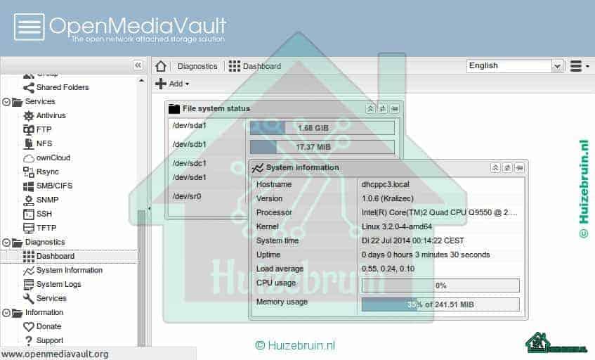 Hoe alles uit OpenMediaVault te halen