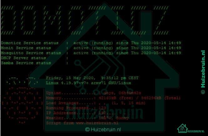 Je bekijkt nu MOTD welkomstbericht toevoegen aan Raspbian / Domoticz