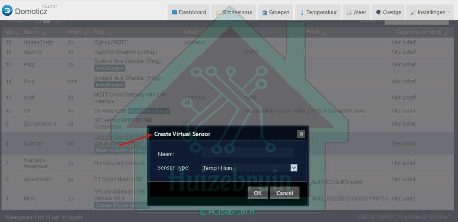 virtual sensor temp