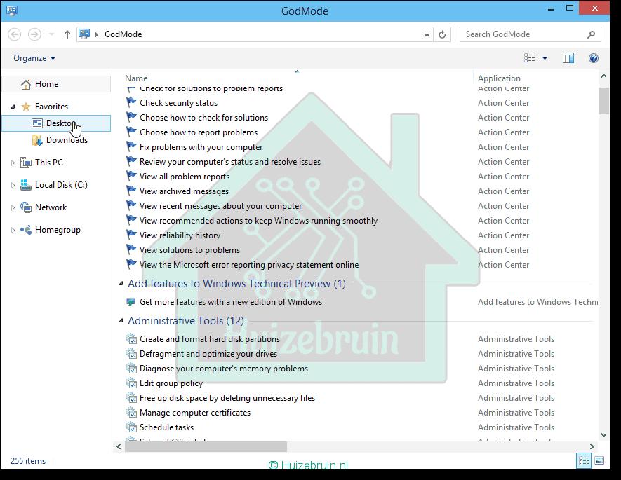 Je bekijkt nu Windows 10 God Mode