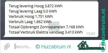 Meterstanden naar Telegram dal en hoog tarief en totaal en gas vanuit Domoticz