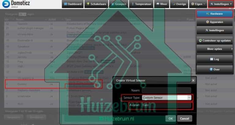 Hardware custom sensor