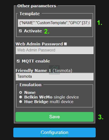 tasmota template import2